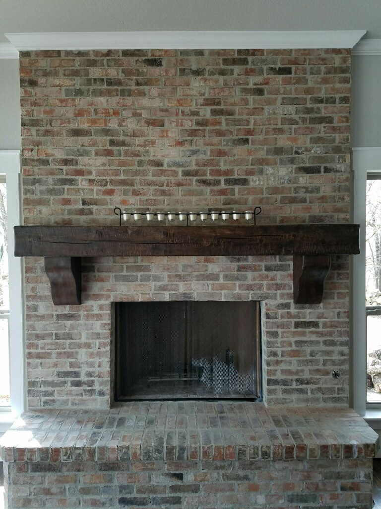 Mantel on brick 2with corbels