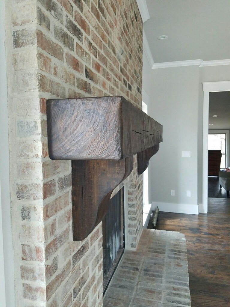 Mantel on brick 3
